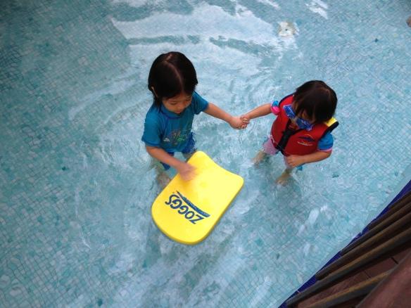 Swimming with Hann Hann jie jie